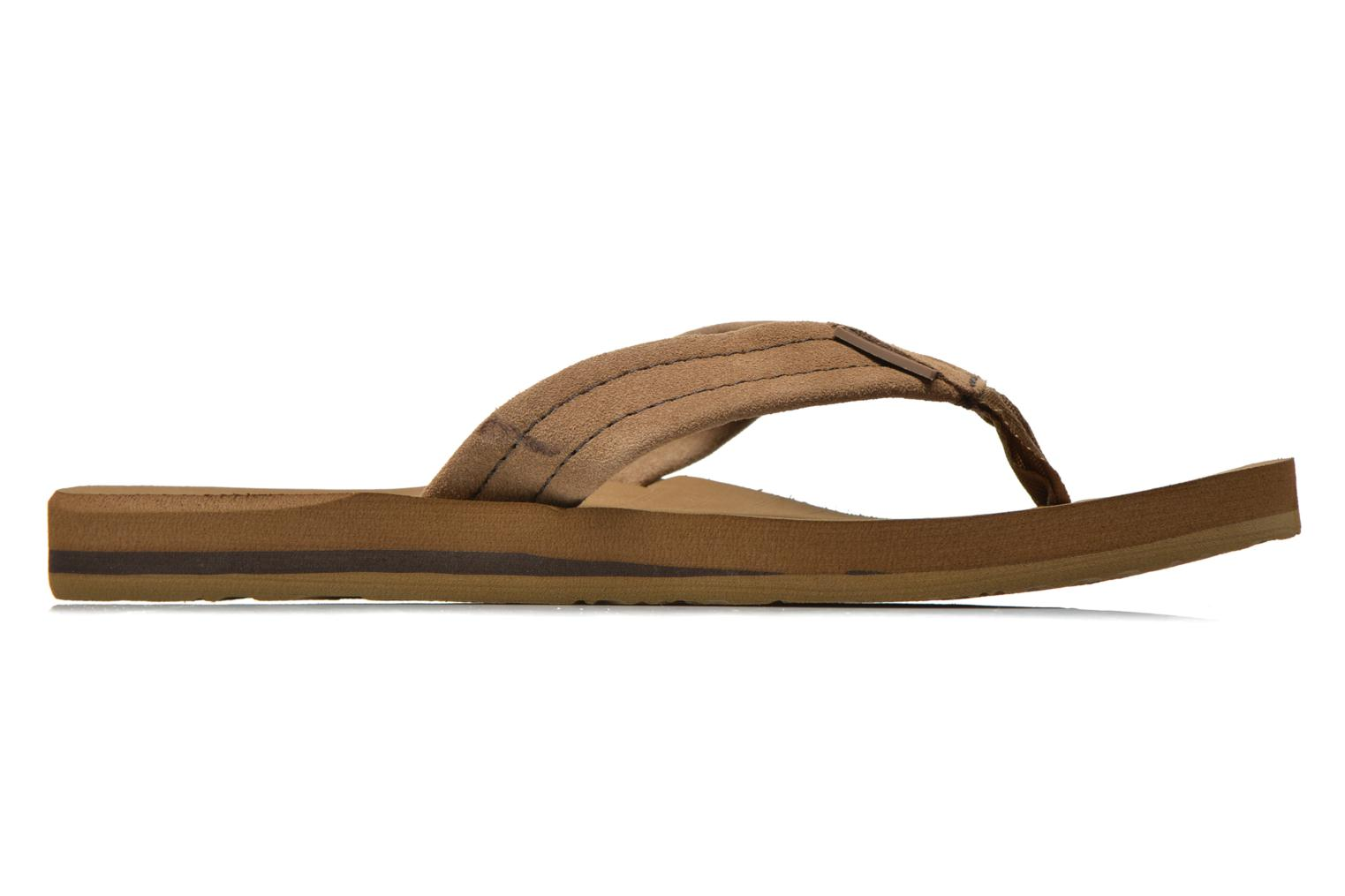 Flip flops Quiksilver Carver Suede Brown back view