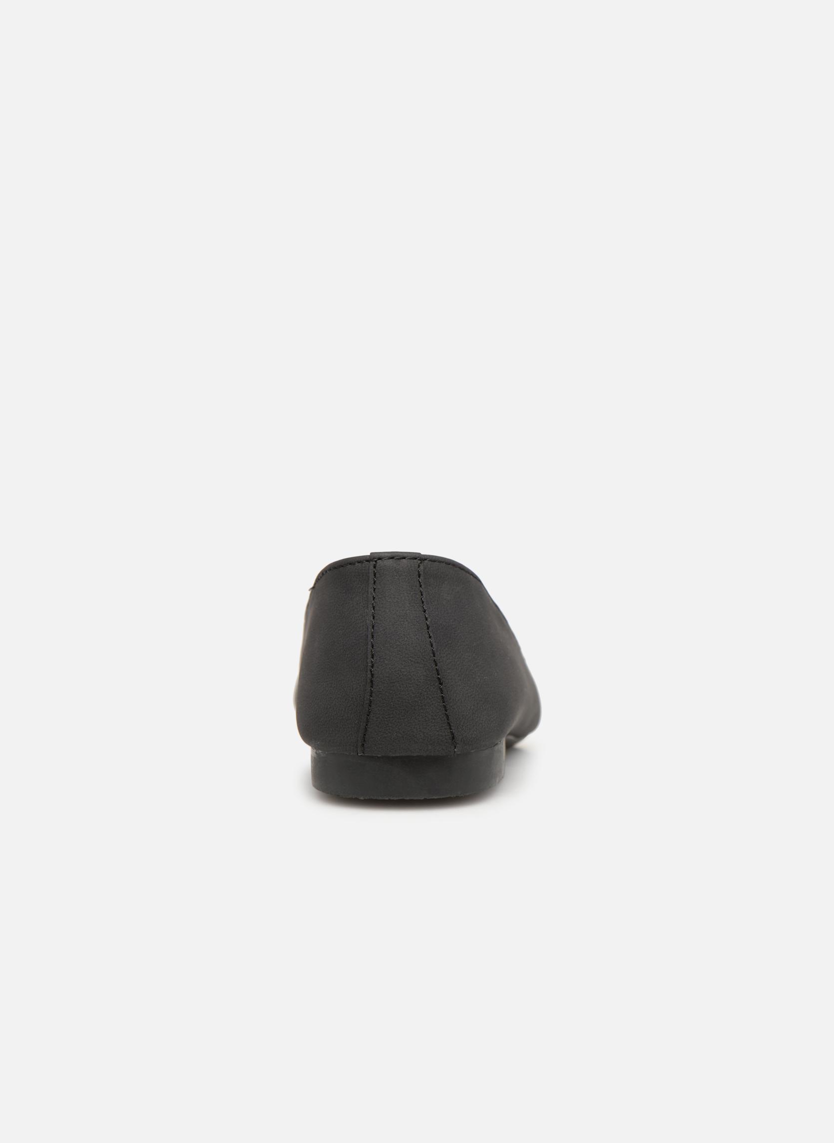 Slipper Isotoner Ballerines bout carré mocassin talon 1cm schwarz ansicht von rechts