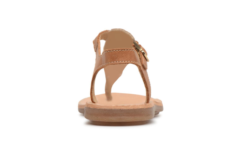 Sandali e scarpe aperte Minibel Klarice Marrone immagine destra