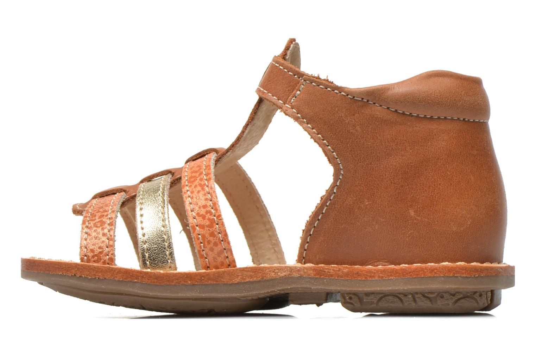 Sandales et nu-pieds Minibel Keglae Marron vue face
