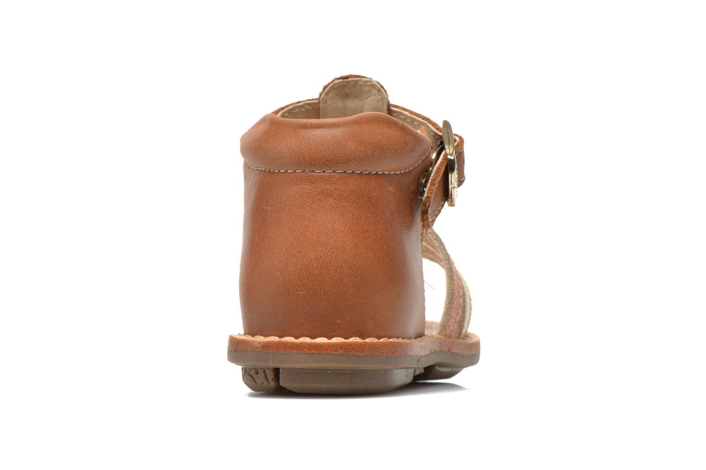 Sandales et nu-pieds Minibel Keglae Marron vue droite