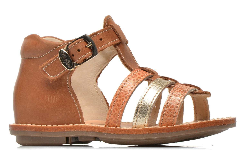 Sandales et nu-pieds Minibel Keglae Marron vue derrière