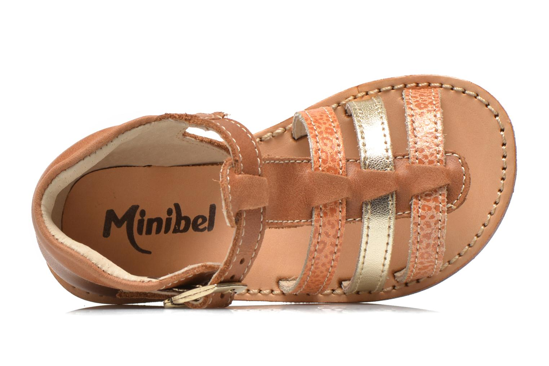 Sandales et nu-pieds Minibel Keglae Marron vue gauche