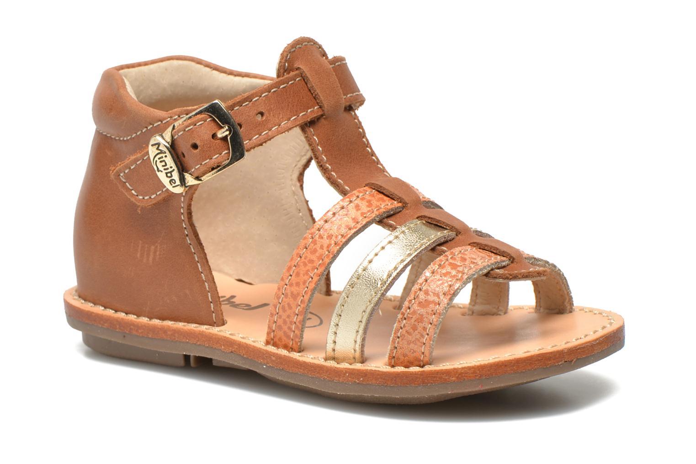 Sandales et nu-pieds Minibel Keglae Marron vue détail/paire