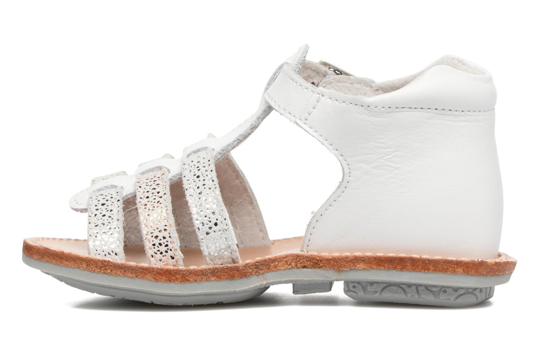 Sandales et nu-pieds Minibel Keglae Blanc vue face