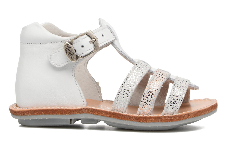 Sandales et nu-pieds Minibel Keglae Blanc vue derrière