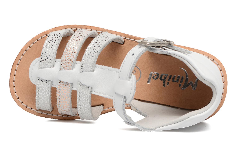 Sandales et nu-pieds Minibel Keglae Blanc vue gauche