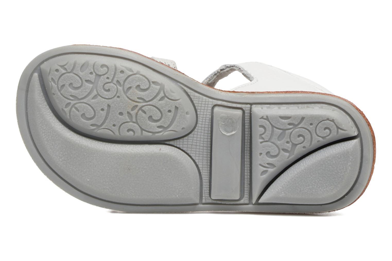 Sandales et nu-pieds Minibel Keglae Blanc vue haut