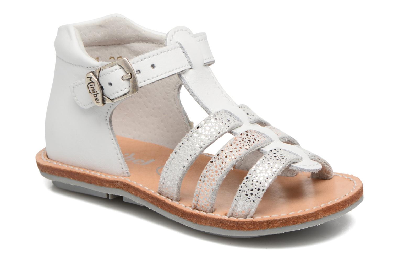 Sandales et nu-pieds Minibel Keglae Blanc vue détail/paire
