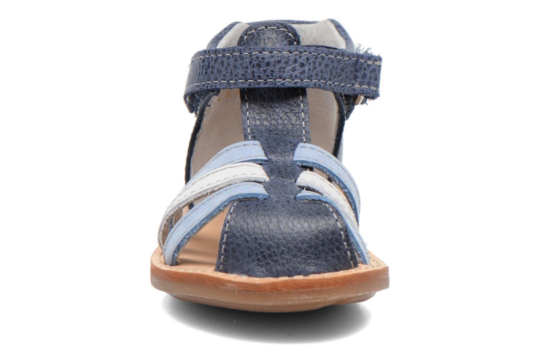 Sandales et nu-pieds Minibel Keou Bleu vue portées chaussures