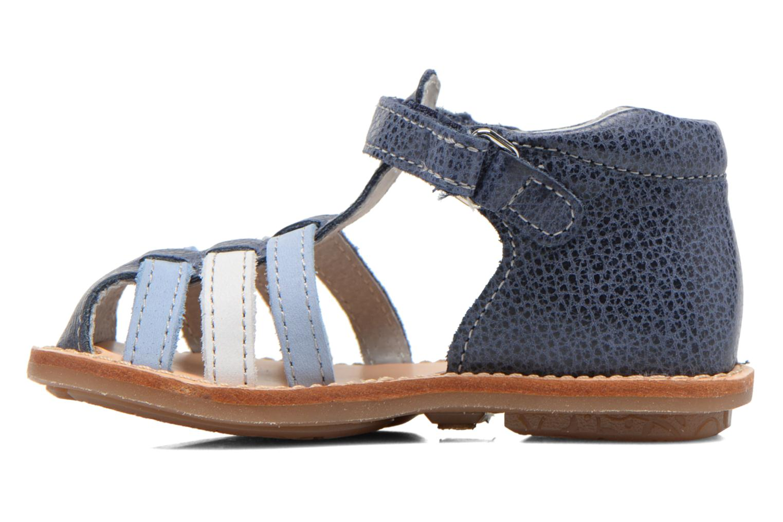 Sandales et nu-pieds Minibel Keou Bleu vue face