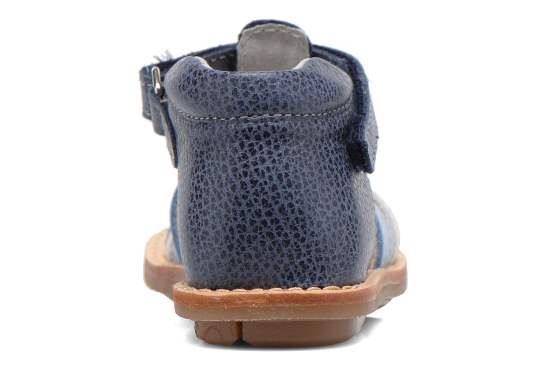 Sandales et nu-pieds Minibel Keou Bleu vue droite