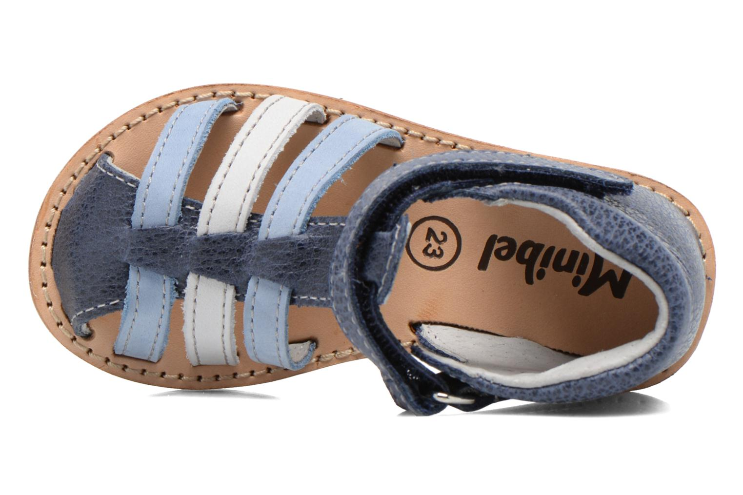 Sandals Minibel Keou Blue view from the left