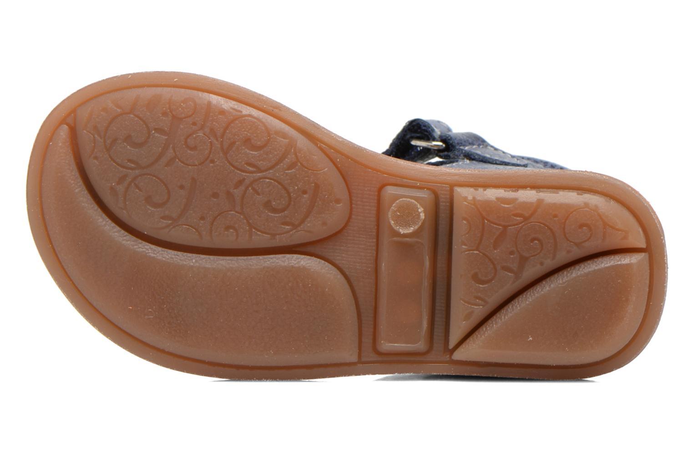 Sandales et nu-pieds Minibel Keou Bleu vue haut