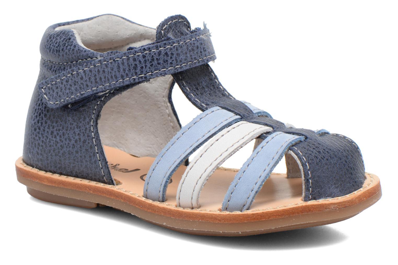Sandales et nu-pieds Minibel Keou Bleu vue détail/paire