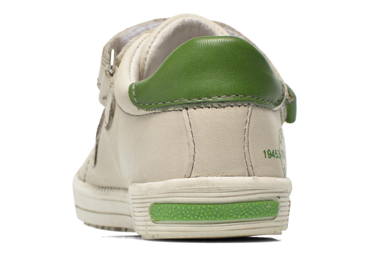 Baskets Noël Mini Raky Beige vue droite