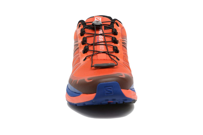 Chaussures de sport Salomon Wings Pro 2 Rouge vue portées chaussures