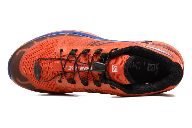 Chaussures de sport Salomon Wings Pro 2 Rouge vue gauche