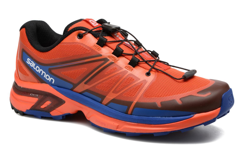 Chaussures de sport Salomon Wings Pro 2 Rouge vue détail/paire
