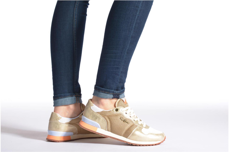 Baskets Pepe jeans Gable Gold Or et bronze vue bas / vue portée sac
