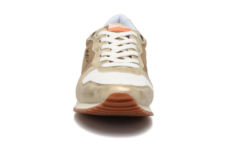 Baskets Pepe jeans Gable Gold Or et bronze vue portées chaussures