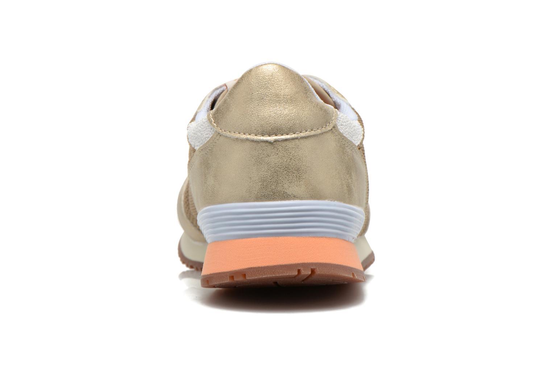 Baskets Pepe jeans Gable Gold Or et bronze vue droite