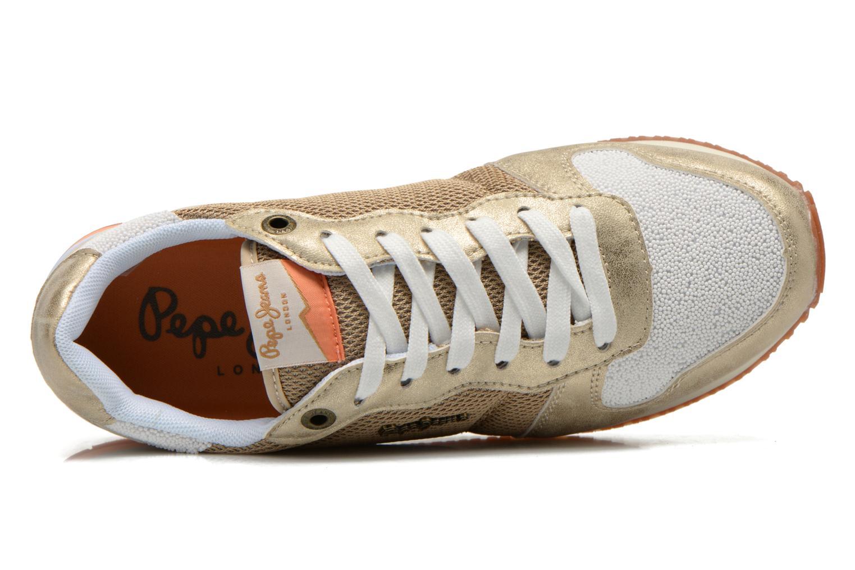 Baskets Pepe jeans Gable Gold Or et bronze vue gauche