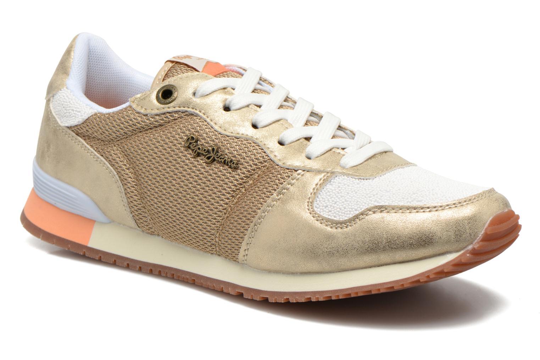 Baskets Pepe jeans Gable Gold Or et bronze vue détail/paire