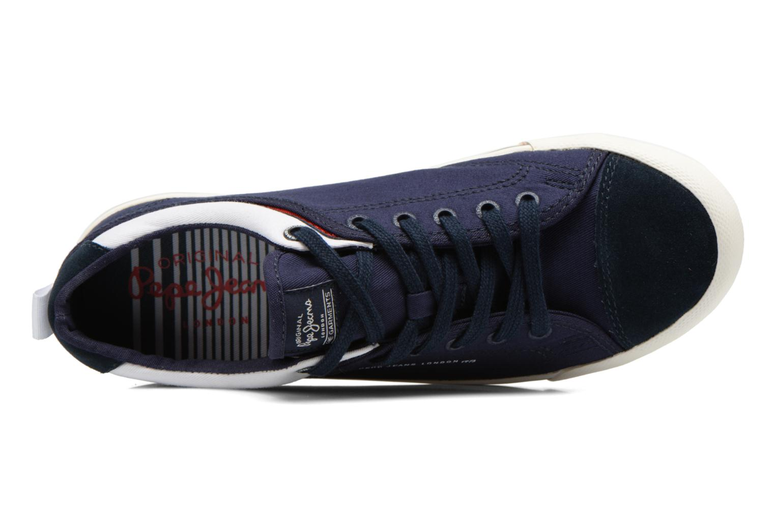 Baskets Pepe jeans Britt Piping Bleu vue gauche