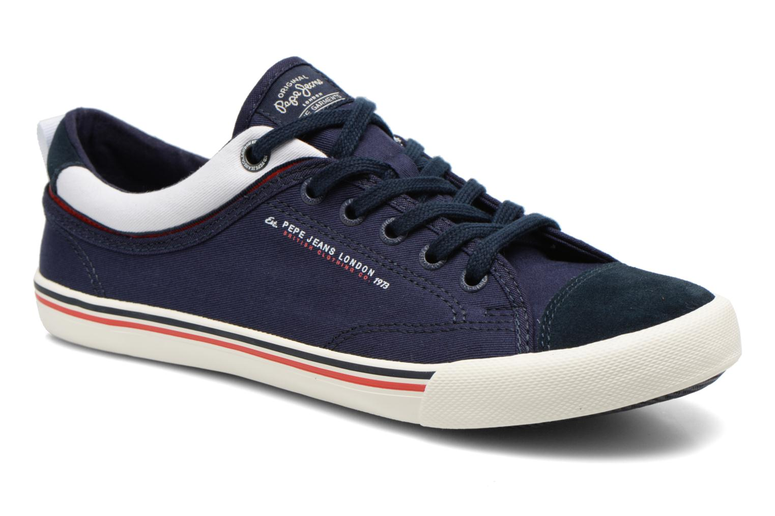 Baskets Pepe jeans Britt Piping Bleu vue détail/paire