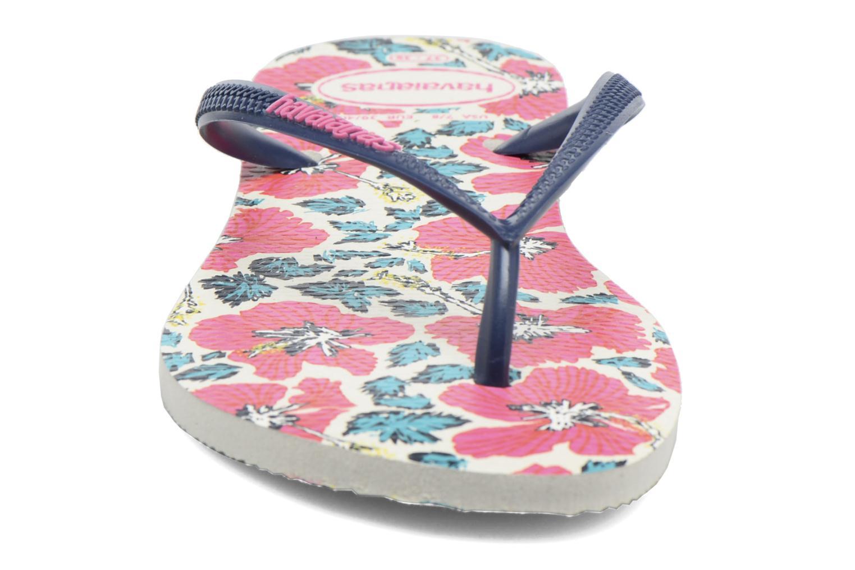 Tongs Havaianas Slim Floral Blanc vue portées chaussures