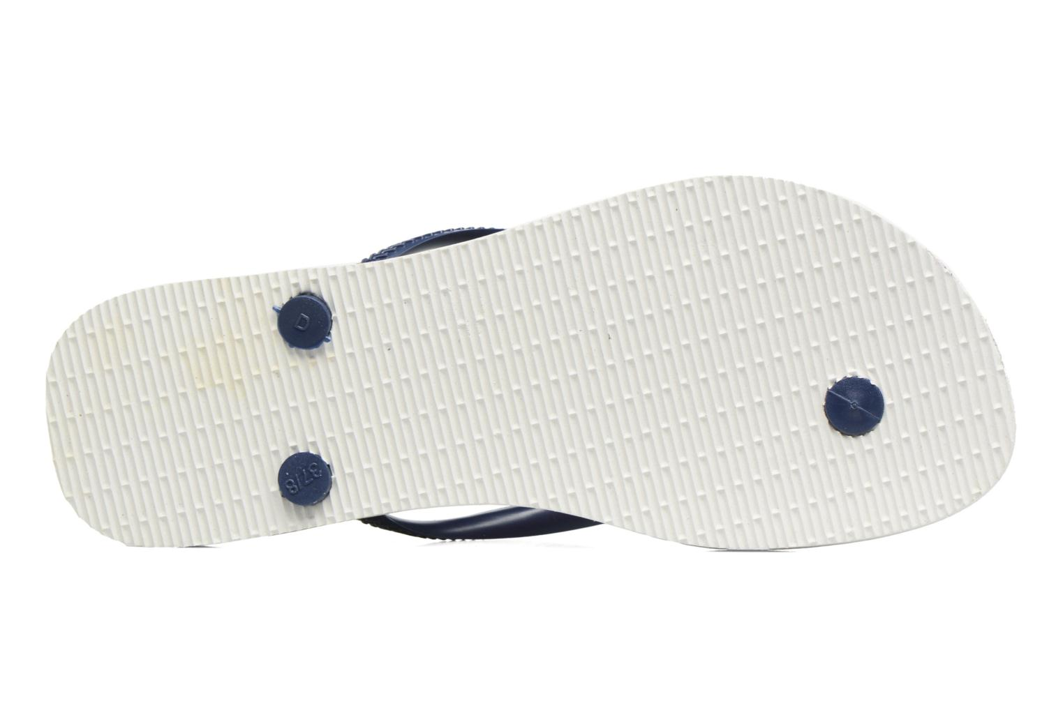 Flip flops Havaianas Slim Floral White view from above