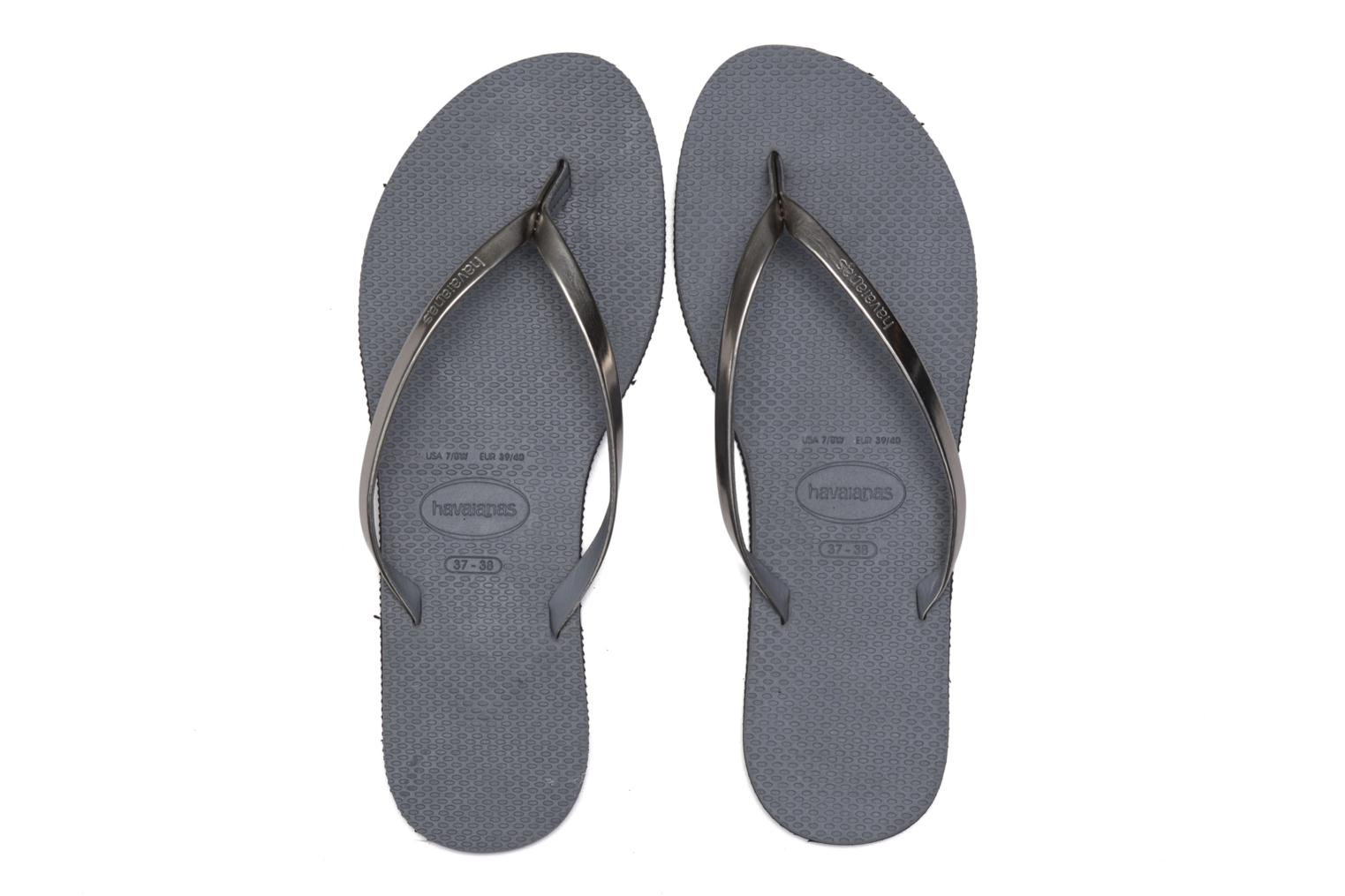 Chanclas Havaianas You Metallic Gris vista 3/4