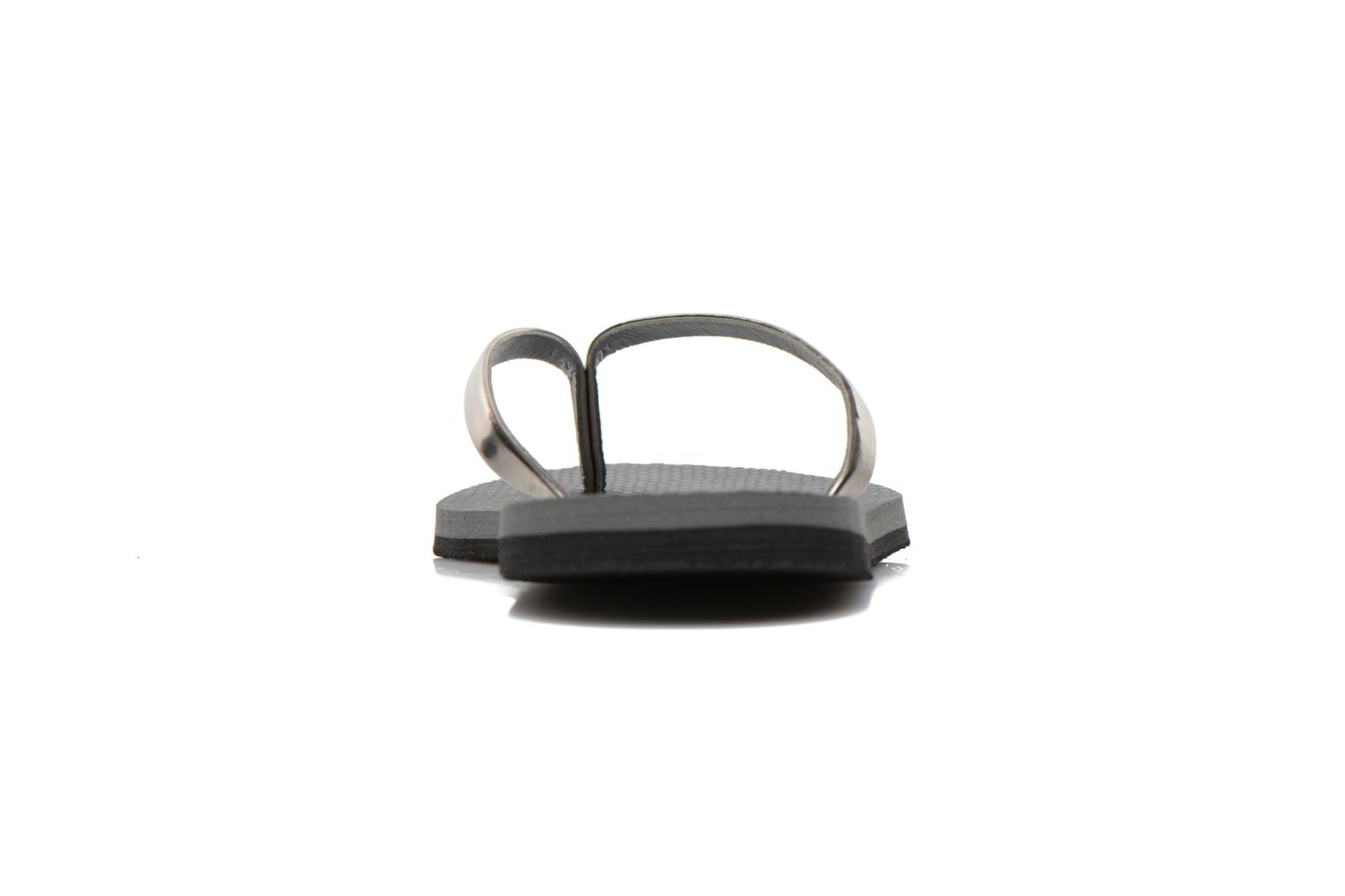 Chanclas Havaianas You Metallic Gris vista lateral derecha