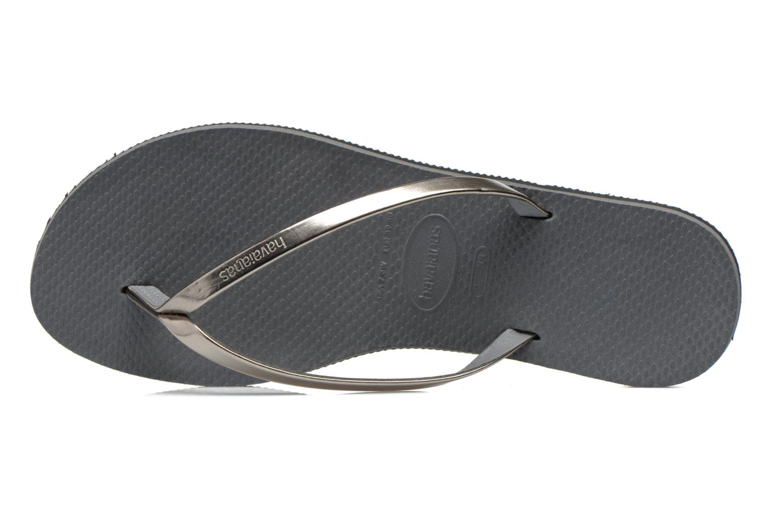 Chanclas Havaianas You Metallic Gris vista lateral izquierda