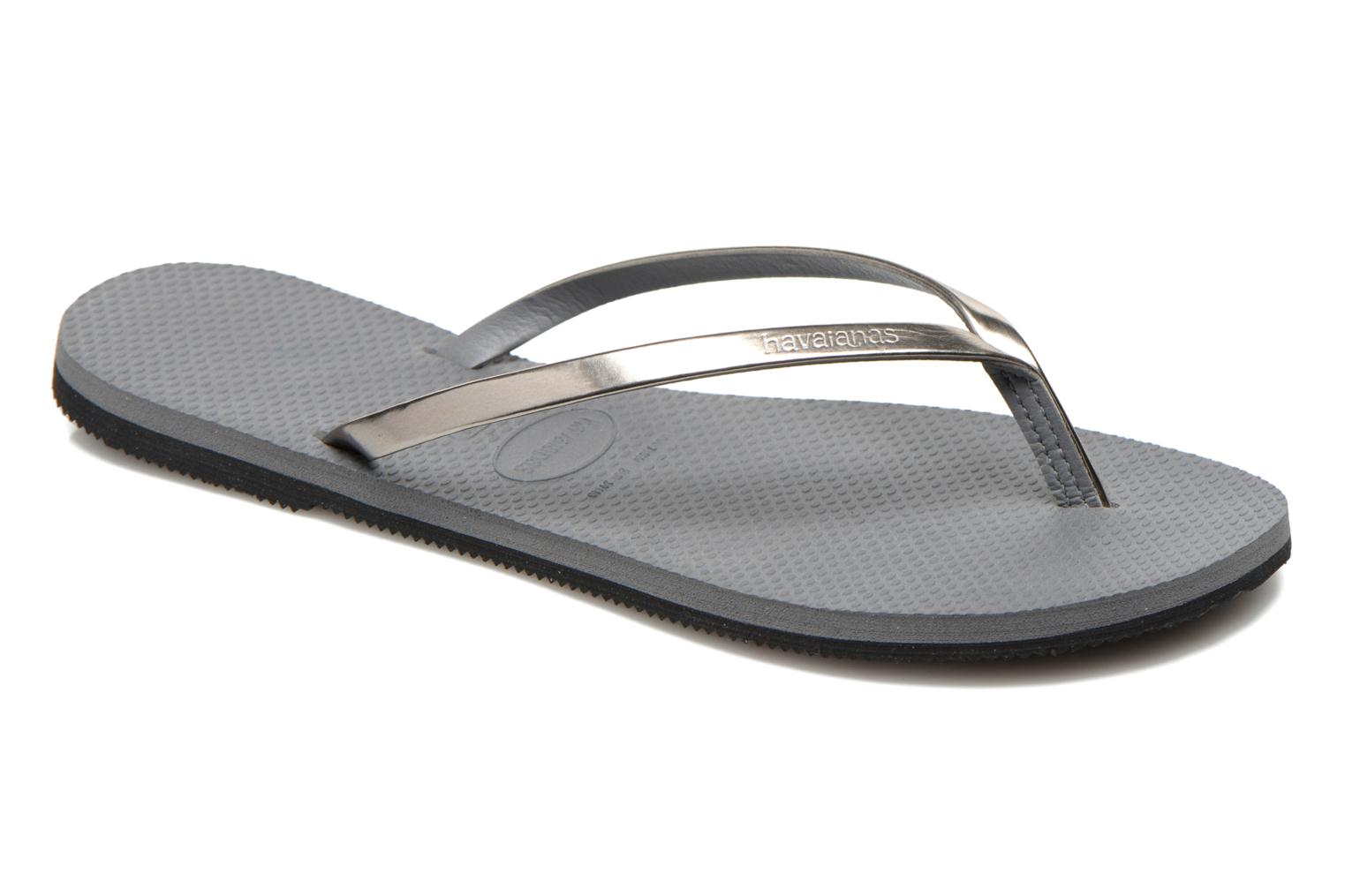 Chanclas Havaianas You Metallic Gris vista de detalle / par
