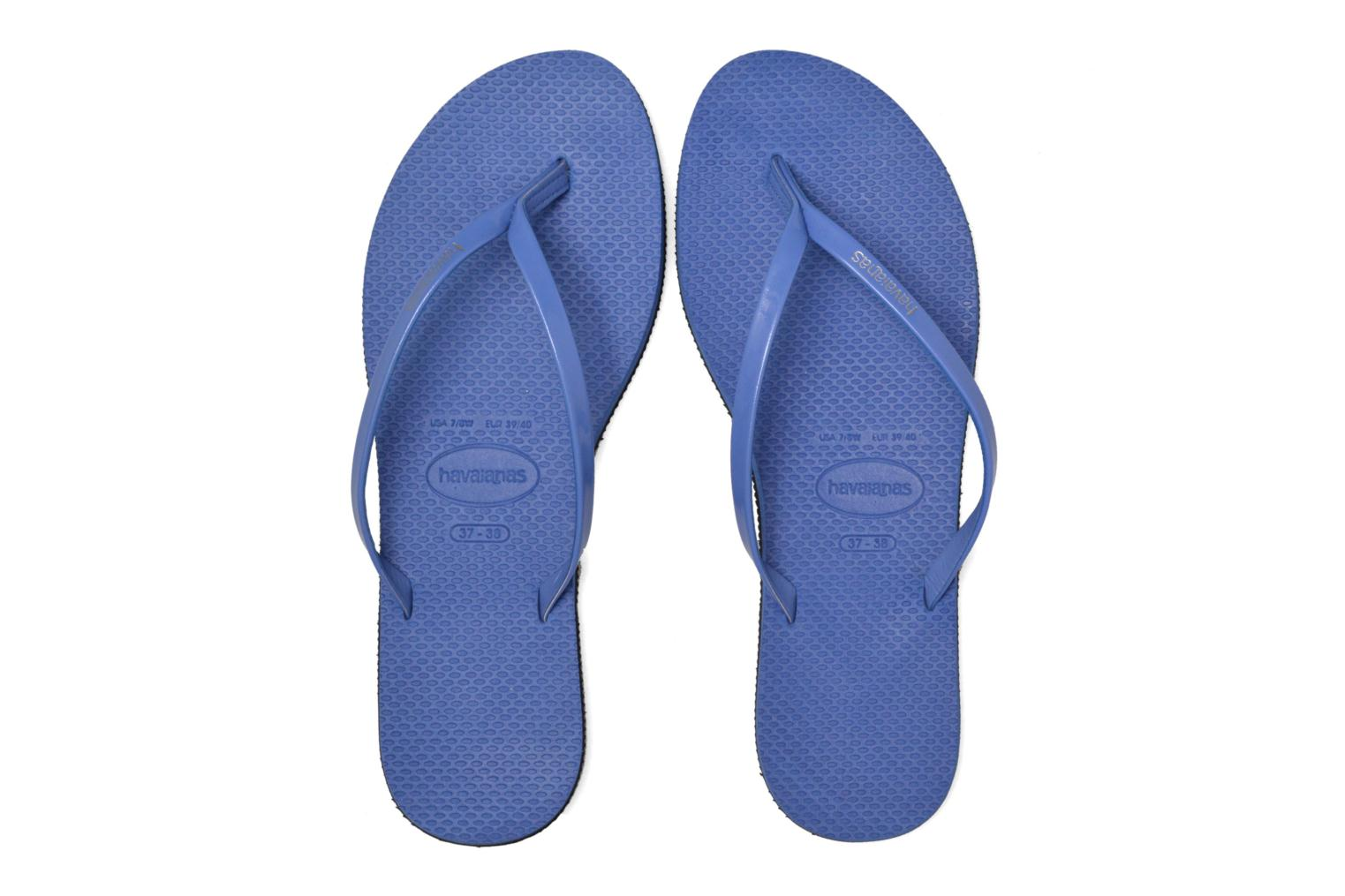 Tongs Havaianas You Metallic Bleu vue 3/4