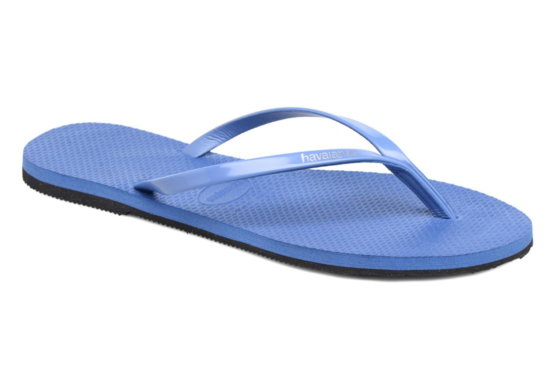 Flip flops Havaianas You Metallic Blue detailed view/ Pair view