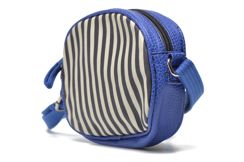 Sacs à main Paquetage Micro Sac Rayé Bleu vue portées chaussures