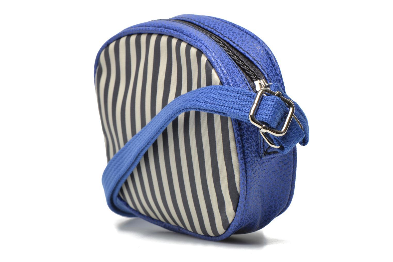 Sacs à main Paquetage Micro Sac Rayé Bleu vue droite