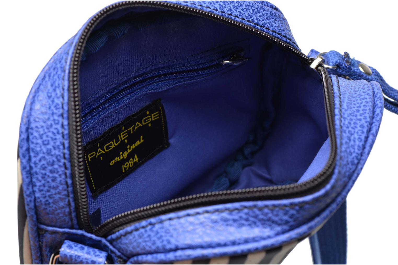 Sacs à main Paquetage Micro Sac Rayé Bleu vue derrière