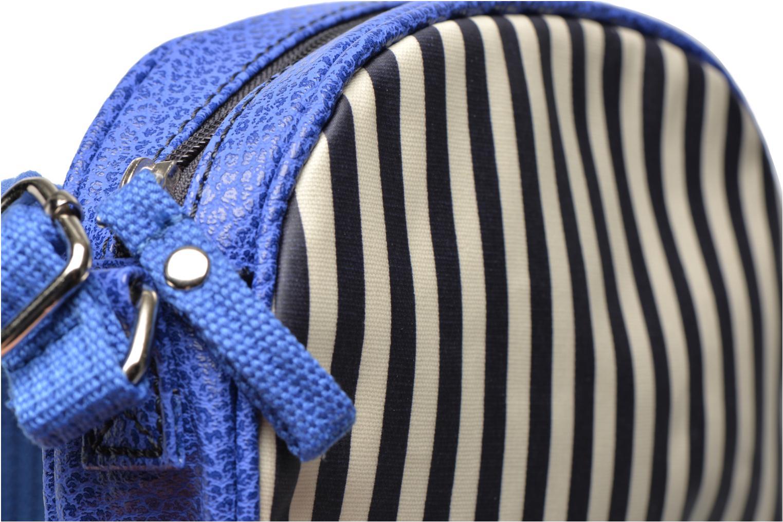 Sacs à main Paquetage Micro Sac Rayé Bleu vue gauche