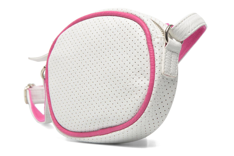 Sacs à main Paquetage Micro Sac Perforé Blanc vue portées chaussures