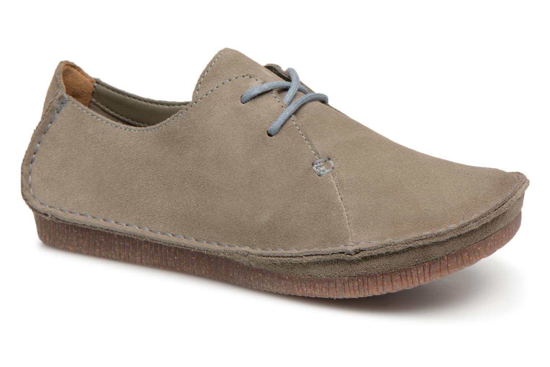 Zapatos de hombres y mujeres de moda casual Clarks Janey Mae (Gris) - Zapatos con cordones en Más cómodo