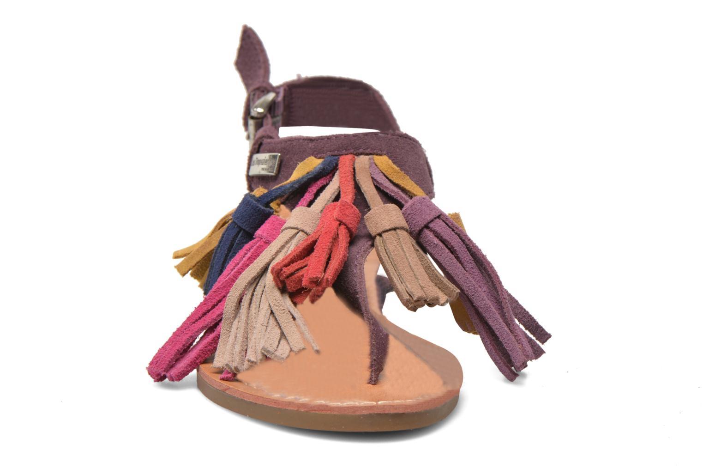 Sandales et nu-pieds Les Tropéziennes par M Belarbi Gorby E Violet vue portées chaussures