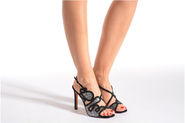 Sandales et nu-pieds Lola Cruz Eloi Argent vue bas / vue portée sac
