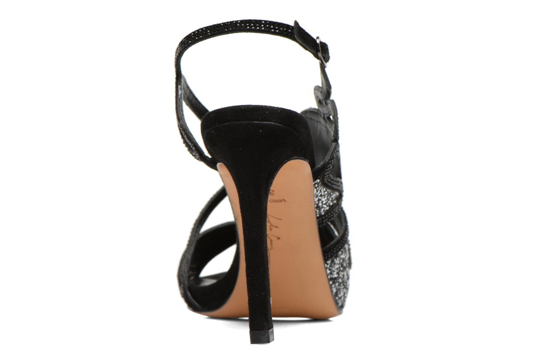 Sandales et nu-pieds Lola Cruz Eloi Argent vue droite