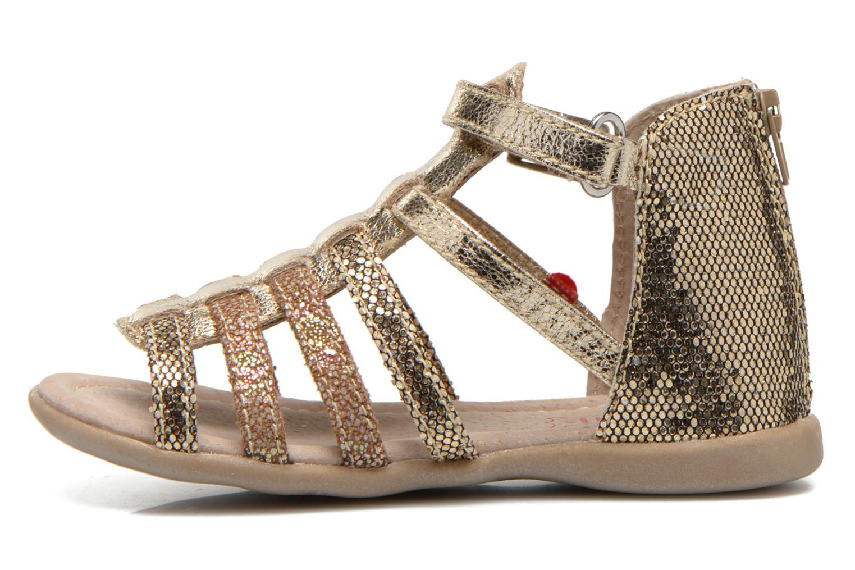 Sandales et nu-pieds NA! Anoa Or et bronze vue face