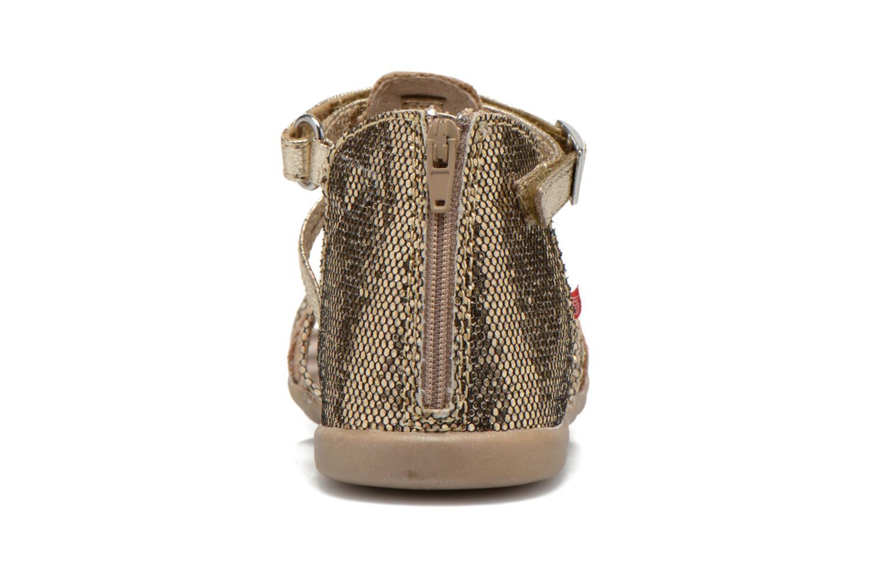 Sandales et nu-pieds NA! Anoa Or et bronze vue droite