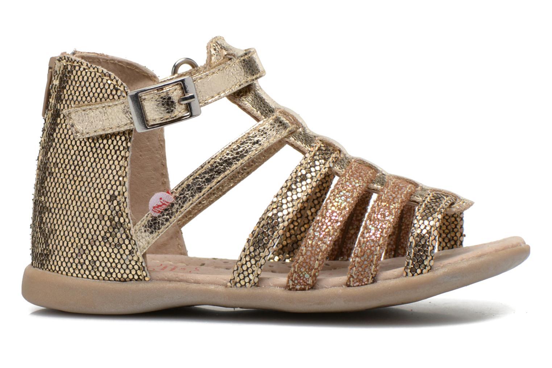 Sandales et nu-pieds NA! Anoa Or et bronze vue derrière